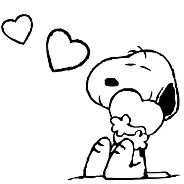 Coloriage Snoopy En Ligne Gratuit A Imprimer