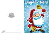 Carte Père Noël cloches