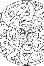 Coloriage Mandala Saint Valentin en Ligne Gratuit à imprimer