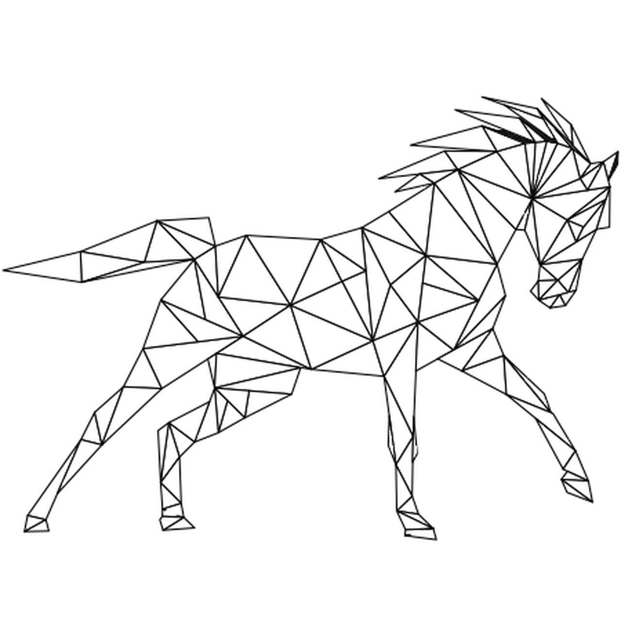 Coloriage Cheval Au Galop