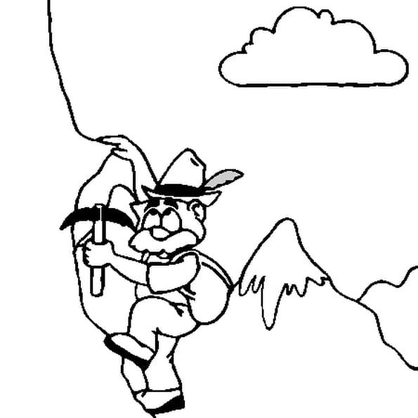 Montagne coloriage montagne en ligne gratuit a imprimer sur coloriage tv - Dessin de montagne ...