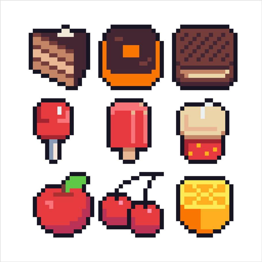 Pack De Nourriture En Pixel Art