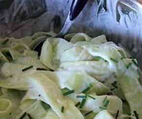 Tagliatelles de concombre