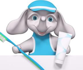 L'éléphant et la brosse à dents
