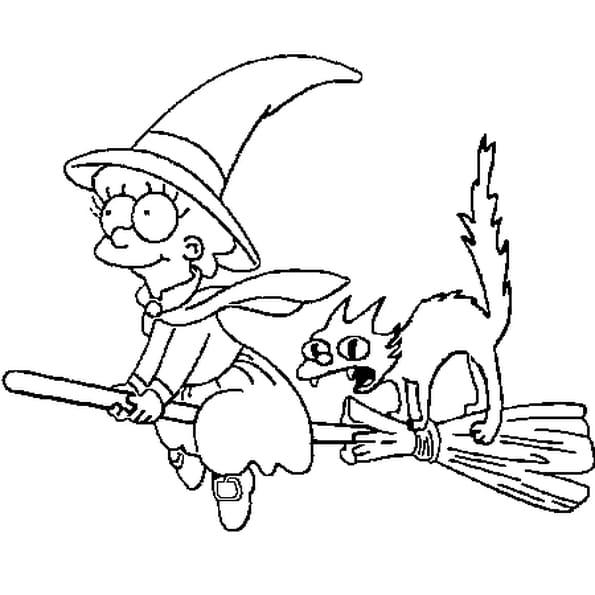 Coloriage halloween simpson en ligne gratuit imprimer - Coloriage gratuit mini sorciere ...