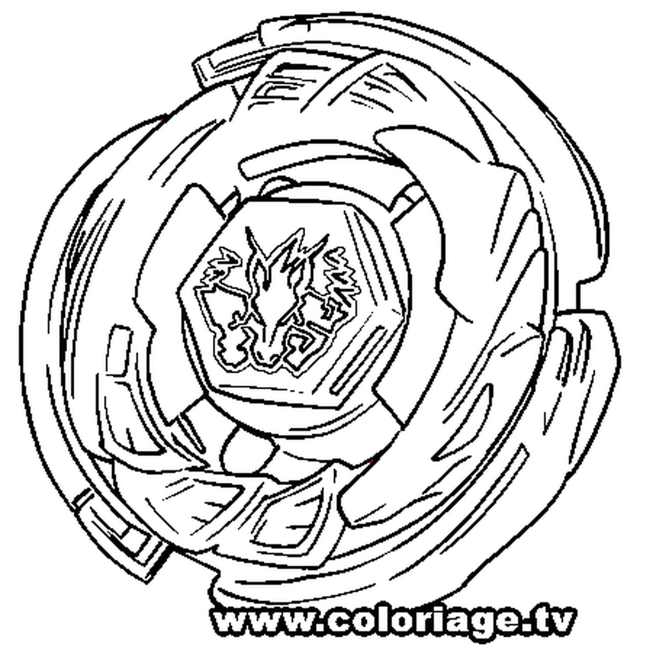 Coloriage Beyblade Imprimer.Coloriage Beyblade Pegasus En Ligne Gratuit A Imprimer