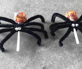 Sucette-araignée pour Halloween