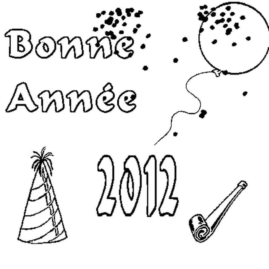 Dessin 2012 a colorier
