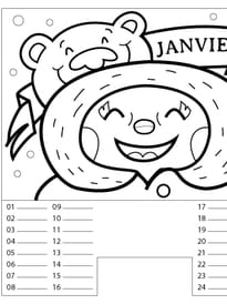 calendrier 2018 a imprimer hugo l'escargot
