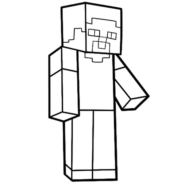 Coloriage Steve personnage de Minecraft en Ligne Gratuit à imprimer