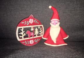 Père Noël en pâte à modeler