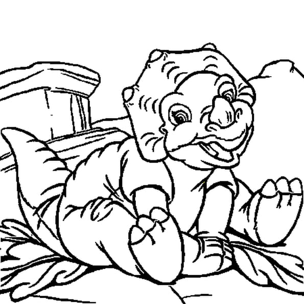 Coloriage petit dinosaure en Ligne Gratuit à imprimer