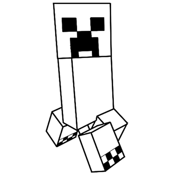 Coloriage Le creeper de Minecraft