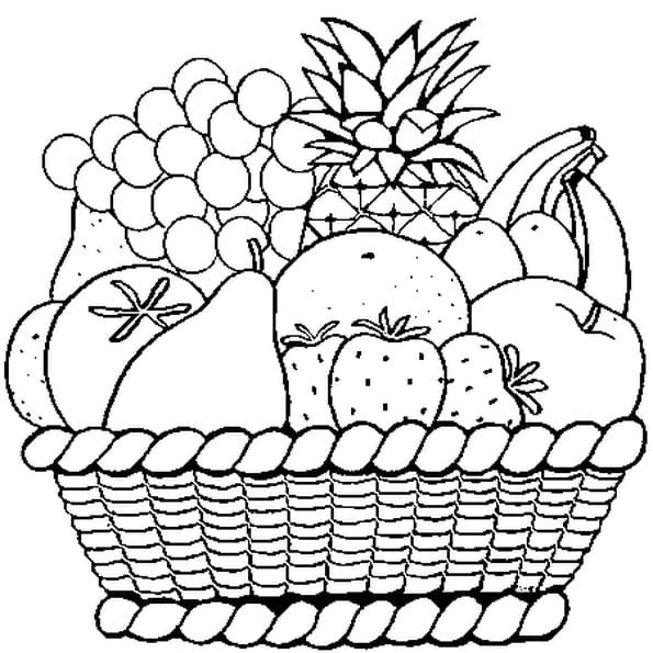 Coloriage Fruits en Ligne Gratuit à imprimer