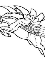 Coloriage Licorne ailée