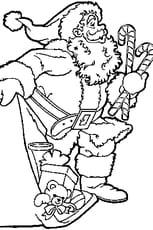 Coloriage dessin Père Noël en Ligne Gratuit à imprimer