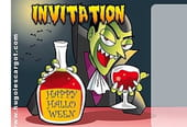Carte invitation Halloween Dracula