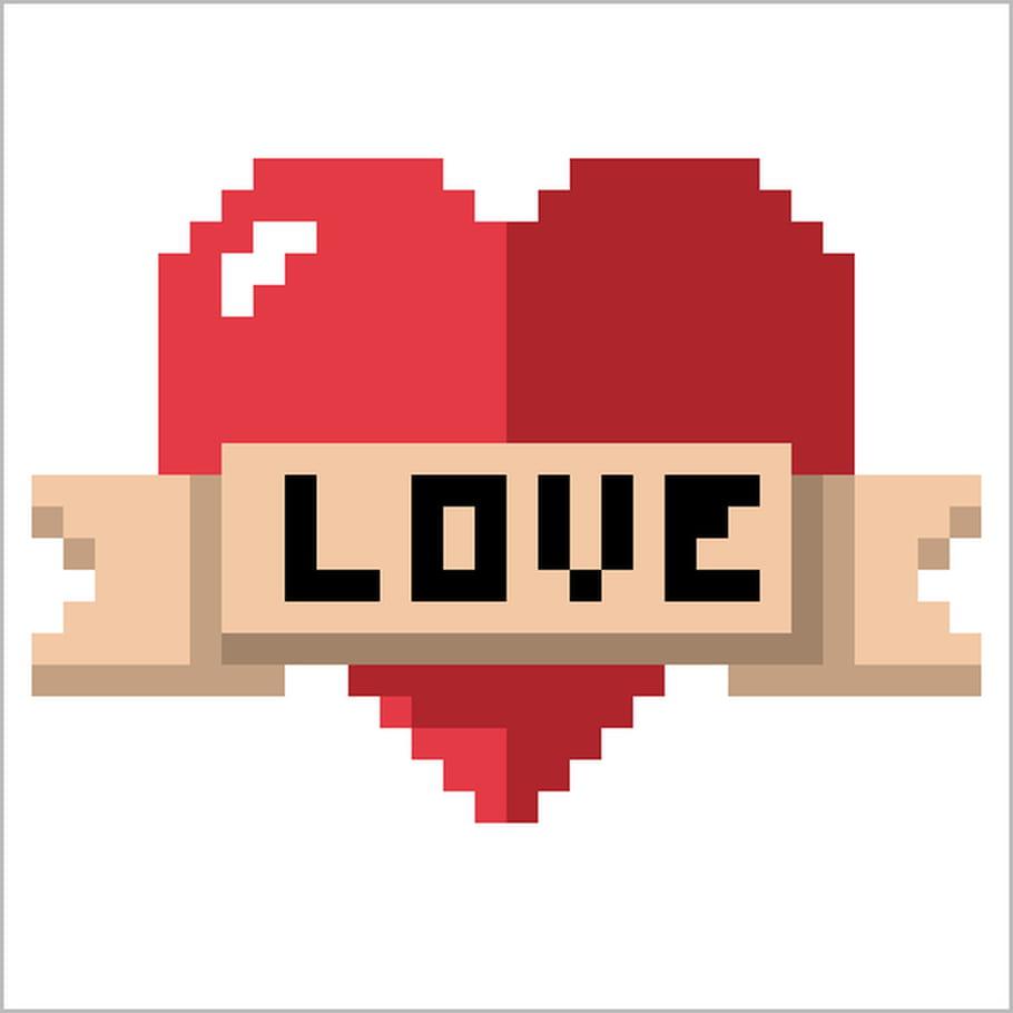 Coeur Love en pixel art