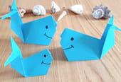 Baleine en origami, pliage papier [VIDEO]