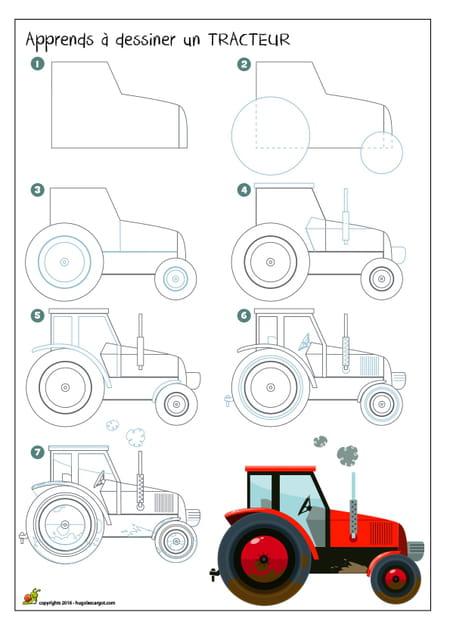 Dessiner un tracteur - Dessin d un tracteur ...