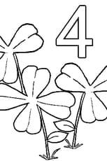 Coloriage 4feuilles en Ligne Gratuit à imprimer