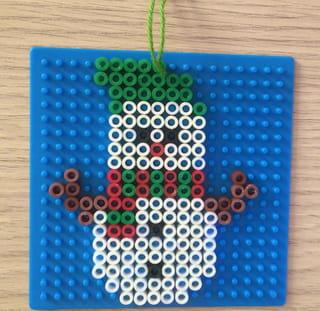 Déco de Noël perles à repasser Étape 2