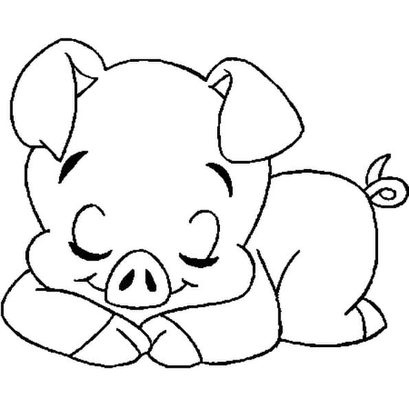 Coloriage Du Cochon en Ligne Gratuit à imprimer