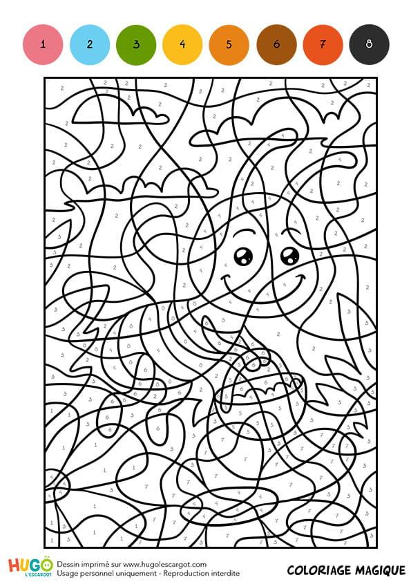 Coloriage magique cm1 une abeille butineuse - Coloriage magique grammaire cm1 ...