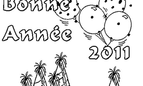 Dessin Nouvelle Année 2011 a colorier
