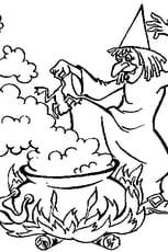 Coloriage de sorcière en Ligne Gratuit à imprimer