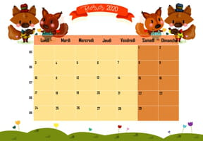 Les animaux : calendrier 2020