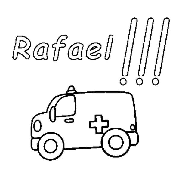 Dessin Rafael a colorier