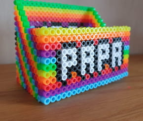 Perles à repasser fête des Pères: Créez une boite pour papa