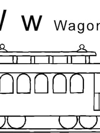 lettre W comme wagon