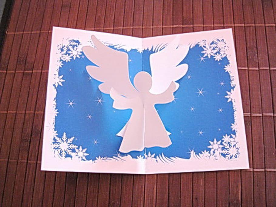 Carte de vœux Ange de Noël en 3D