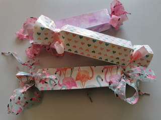Votre paquet cadeau en forme de bonbon est terminé!