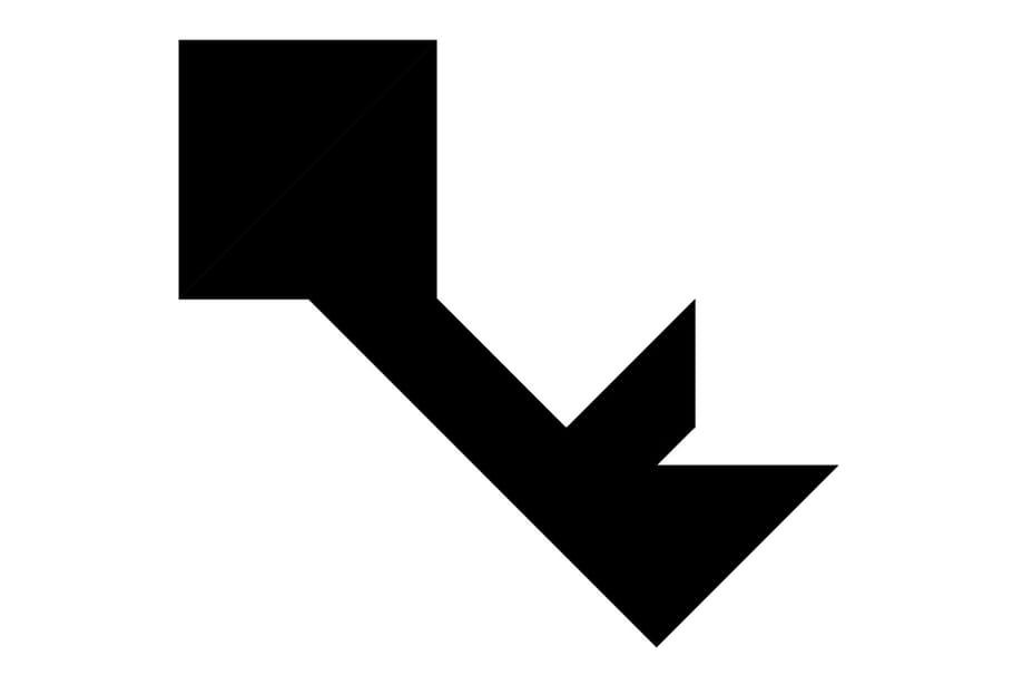 Le tangram niveau difficile, une clé