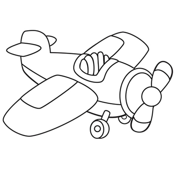 Coloriage Petit Avion en Ligne Gratuit à imprimer