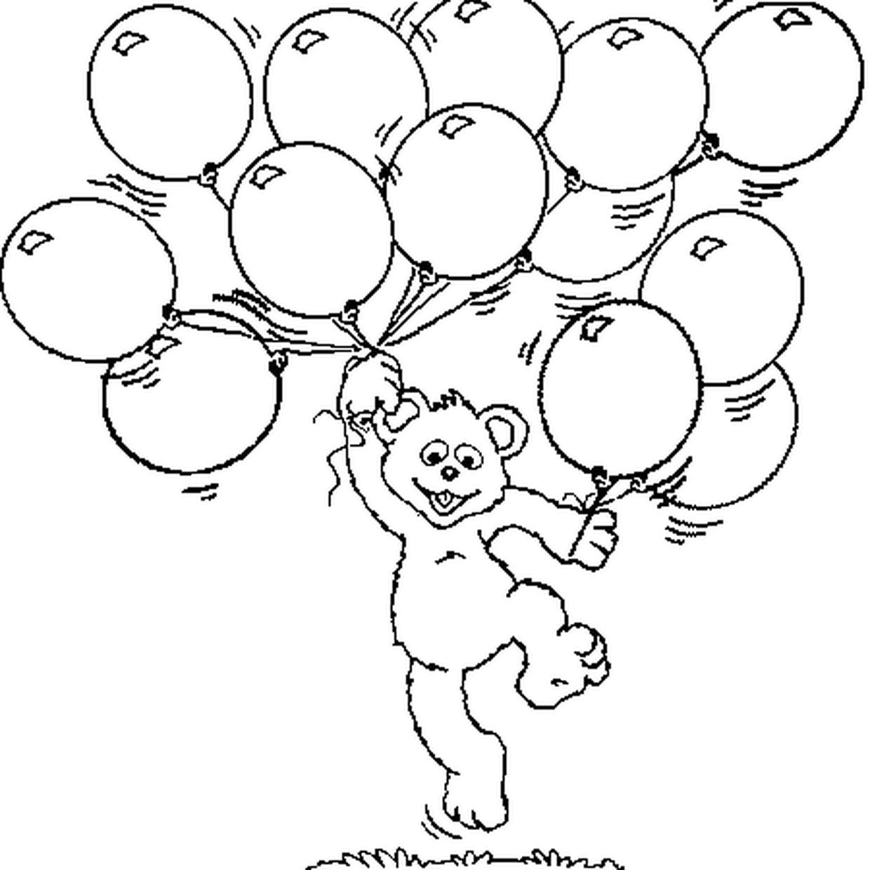 Coloriage Ballon En Ligne Gratuit A Imprimer