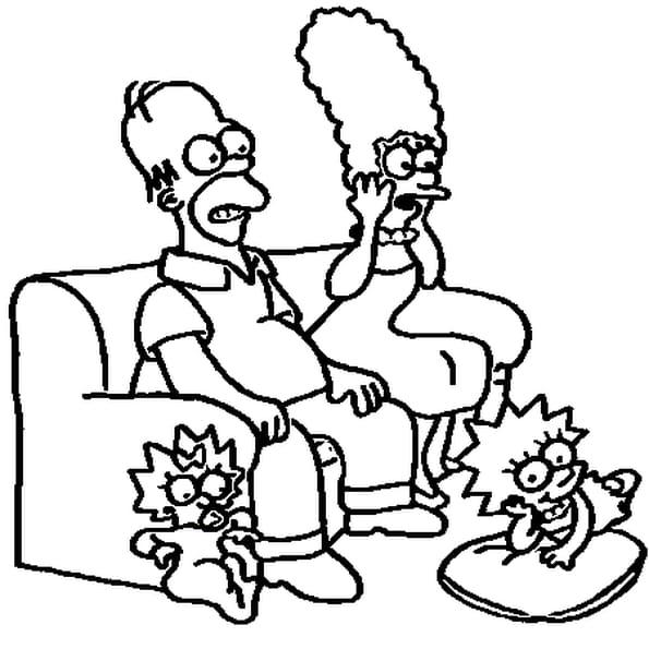 Dessin Simpson a colorier