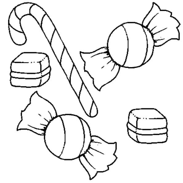 Coloriage bonbon en ligne gratuit imprimer - Bonbon en dessin ...