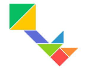 Le tangram niveau facile, une clé