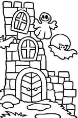 Coloriage En Ligne Chateau.Coloriage Chateau Halloween En Ligne Gratuit A Imprimer
