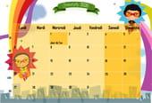 Superhéros: calendrier2020