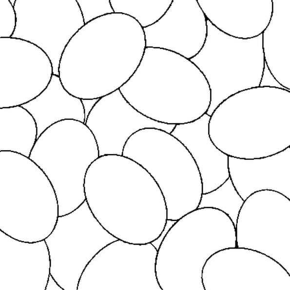 Dessin Des oeufs de Pâques a colorier