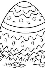 Coloriage œuf en chocolat