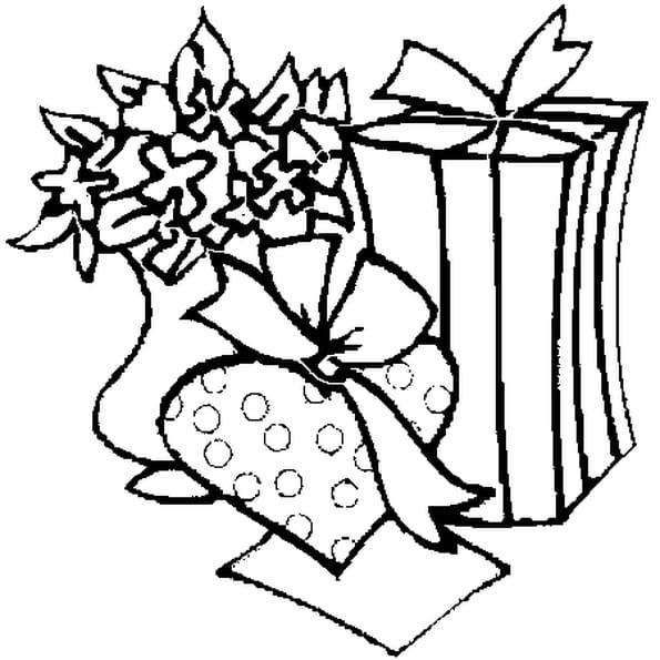 Coloriage cadeau st valentin en Ligne Gratuit à imprimer