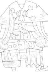Coloriage Le Pirate et son épée en Ligne Gratuit à imprimer