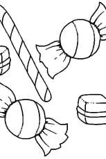 Coloriage Bonbon En Ligne Gratuit A Imprimer