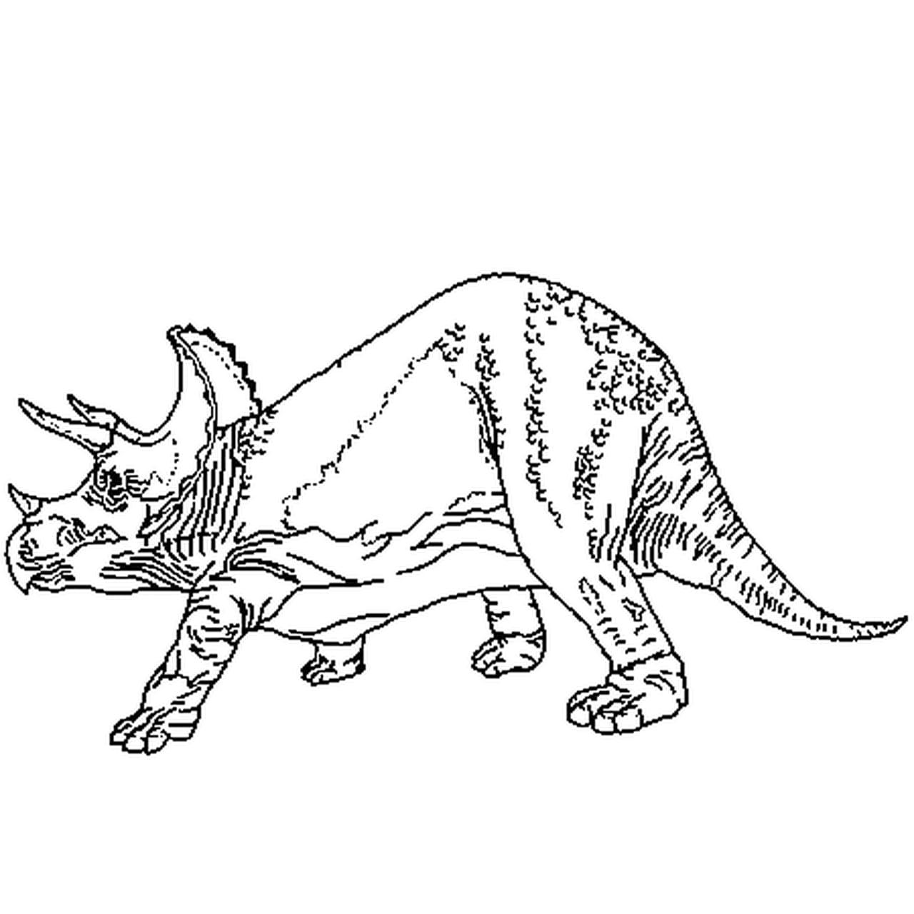 Coloriage Dinosaure âgé En Ligne Gratuit à Imprimer